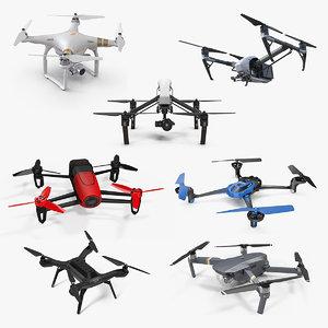 3D quadcopter drones 2 copters