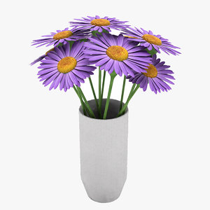 plant flowers 3D model