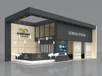 Exhibition Booth Stand Stall 12x5m Height 500 cm 2 Side Open