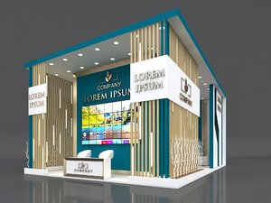 3D model booth exhibition stand stall