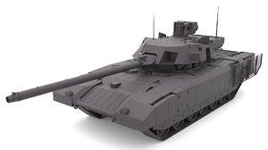 3D armata t-14 model