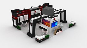 booth exhibit expo 3D