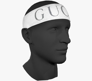 3D model gucci headband