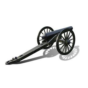 ordnance rifle 3 3D model