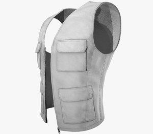 3D white vest