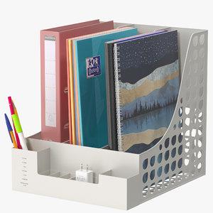 3D document organizer model