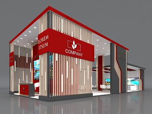 3D exhibition booth stand stall model