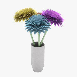 flowers cushion chrysanthemim 3D model