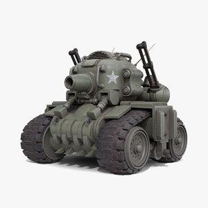 3D metal slug tank model