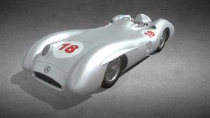 3D w196 streamliner model