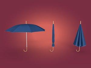 umbrella blender 3D model