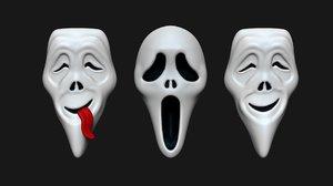3D model halloween masks ghostface scream