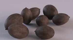 3D seeds nut flower model
