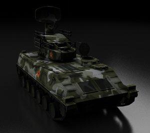 chinese-made pg-z95 anti-aircraft gun 3D model