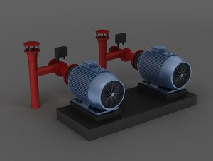 engine motor pulverizer air 3D model