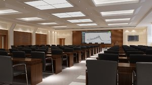 lecture hall room 3D model