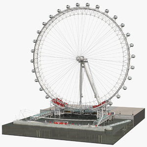 3D london eye millennium wheel