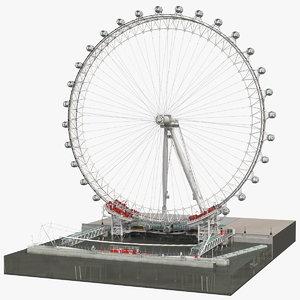 3D london eye millennium wheel