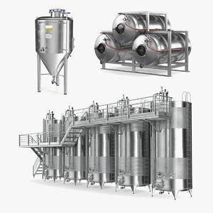 stainless steel tanks 3D model