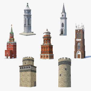 towers 5 3D model