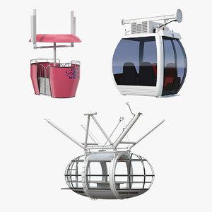 wheel cabins 3D model