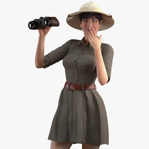 3D women zookeeper clothes
