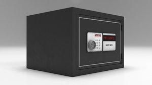 modeled steel safe model