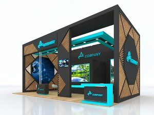 3D model booth exhibit stand
