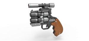 3D model snubble special blaster