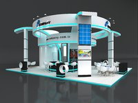 Exhibition Stand Booth Stall 12x10m Height 500cm 4 Side Open
