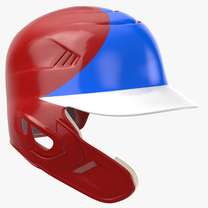 baseball helmet c flap 3D model