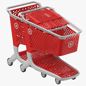 plastic shopping carts 01 model