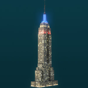 empire state building night 3D