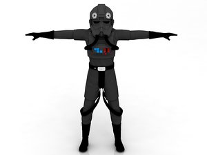 3D tie plote stormtrooper model