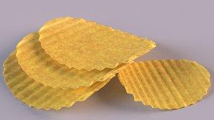 3D pringles chips crisp food model