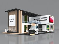 Exhibition Stand Booth Stall 15x9m Height 550cm 4 Side Open