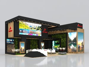 booth exhibit stand 3D