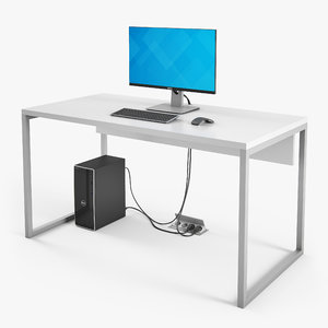 3D dell desktop workstation computer