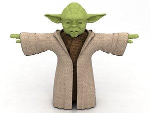 yoda green monster 3D model