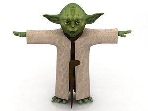 3D yoda green monster