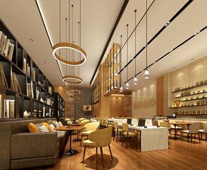 3D reception center interiors model