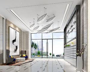 3D lobby interiors