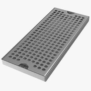 3D stainless steel drip tray