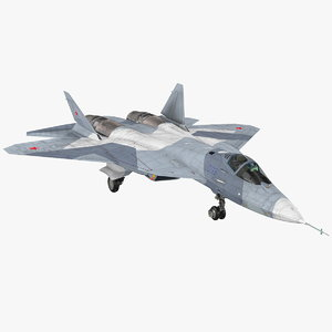 stealth multirole fighter su 3D model