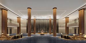 lobby interiors v-ray 3D model