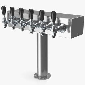 3D t style pedestal draft beer