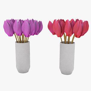 3D model siklamen flower