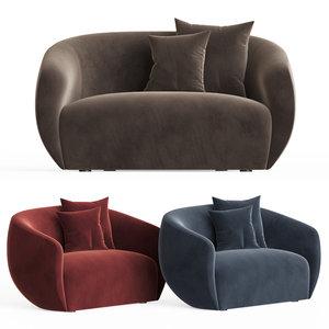 3D lobby sofa wendelbo model