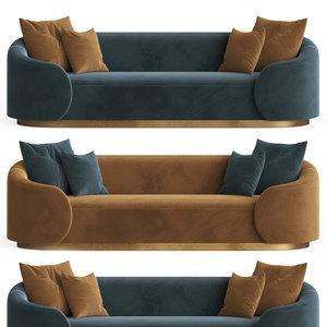 eden rock sofa velvet 3D model