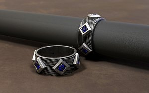 jewellery ring stones 3D model